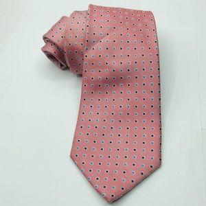Nautica Pink Blue Mens Silk Tie 3 1/4 x 61″
